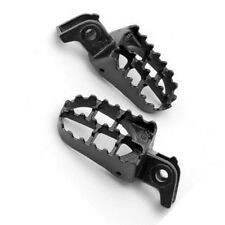 Pair Gray Steel Foot Pegs Footrests For Honda CR125R CR250R CR500R 1988-1993
