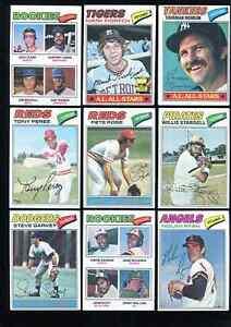 1977 Topps Baseball Card Near Complete Partial Set (631/660) - Mixed Condition