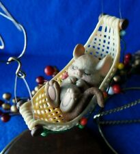Enesco Ornament Time Out Mouse Mouse in Hammock