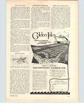 1958 PAPER AD Golden Isles Hallandale Florida Ilon Position Finder Boating