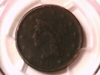 1842 Braided Hair Large Cent Penny PCGS Genuine Large Date 33033971