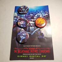 4 Vintage Nightmare Before Christmas Movie  Promo Pinback  Button