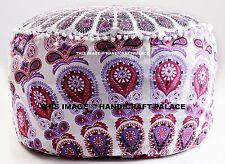 Indisch Traditionell Dekorativ Mandala Ottomane Pom Spitze Sitzkissen Bezug