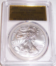 2016 $1 PCGS MS69 First Strike Gold Foil 30th Anniversary Silver American Eagle!