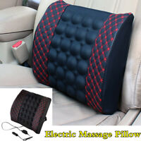12V Electric Lumbar Back Massage Pillow For Car Interior Seat Chair Accessories