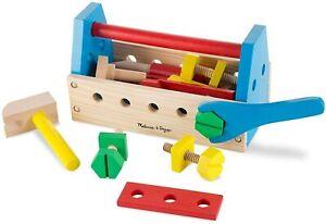 Melissa + Doug 494 Take-Along Tool Kit Wooden Construction Toy (24 pcs)