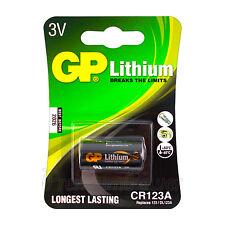 1 x GP Lithium CR123A battery 3V CR123 CR17345 EL123 Digital Camera