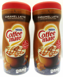 Coffee Mate ~ Caramel Latte ~ Non-Dairy Creamer  15 oz container ~ Lot of 2