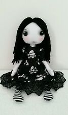 "Megan. 12"" gothic style rag doll sewing pattern."