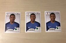 3x Panini WM World Cup 2018 KYLIAN MBAPPE Sticker Nr. 209