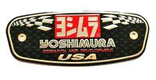 YOSHIMURA USA 3D HEATPROOF EXHAUST BADGE STICKER GRAPHIC DECAL METAL SUPERBIKE