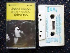 DOUBLE FANTASY John Lennon Yoko Ono Music Cassette Rare Find