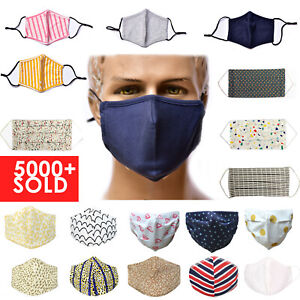 Reusable Face Mask Washable Comfortable Breathable Adult Mouth Protection Cover