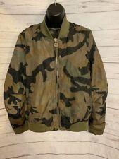 Nicki Minaj Women's Bomber Camouflage Jacket Quilted Size L Large