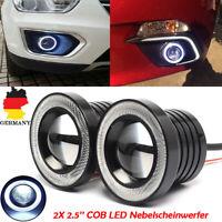 "2x 2.5"" Motorrad 12V 3200LM Eagle Eye Tagfahrlicht Nebelscheinwerfer LED Auto"