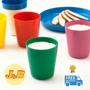 IKEA Kalas Kids Multicolour Plastic Bowls Mugs Cups Plates Set or Individual