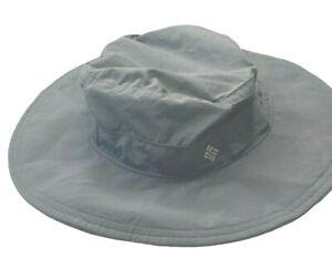 Columbia Khaki Vented Fishing Hiking Nylon Sun Hat Olive Gray One Size