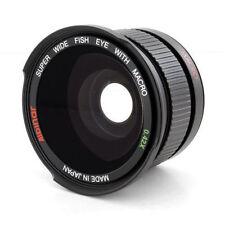 Wide .42x Fisheye + lens hood fo Canon EOS Rebel t6 t6i t5 SL1 t5i T3 xti T4i T1
