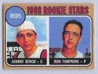 "1968  JOHNNY BENCH - Topps ""ROOKIE - REPRINT"" Baseball Card # 247 - CIN. REDS"