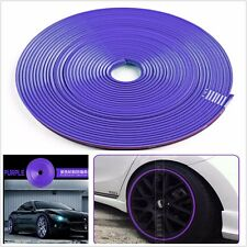 "JDM PURPLE WHEEL RIM PROTECTOR CAR TIRE GUARD LINE RUBBER MOULDING 8M 22"" SUV"