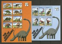 Grenada Grenadines 2076a-f and 2077a-h Dinosaurs .Miniature Sheets. MNH
