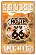 Route 66 Cruise America metal sign    (ga)