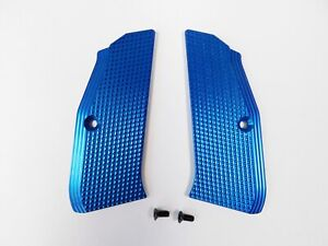 ZENDL® CZ 75 High Quality Grooved Grips - Made in Czech Republic - BLUE
