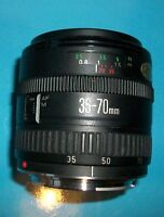 Canon EF 35-70mm f 3.5-4.5 Macro lens Good condition works well fits EOS digital