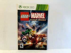 Lego Marvel Super Heroes Xbox 360 MANUAL ONLY Authentic Original