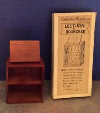 Dollhouse Miniature Shackman Wood Lecturn & Bookcase - MIB