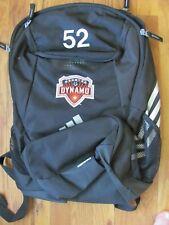 Houston Dynamo w/ #52 adidas Climaproof Stadium Backpack Soccer Futbol Black