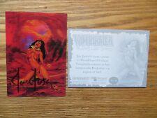 2011 BREYGENT VAMPIRELLA LENTICULAR 3-D CARD VL-14 SIGNED JOE JUSKO ART,WITH POA