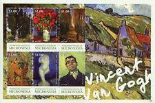 Micronesia 2015 MNH Vincent van Gogh Good Samaritan Delacroix 6v M/S Art Stamps