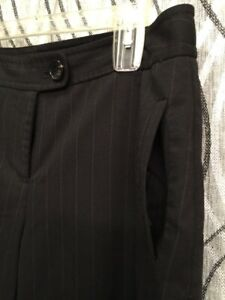 The Limited  - BLACK Pin Striped - PANTS - Women's Size 12