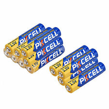 PKCELL 12pcs AAA Alkaline Battery 1.5V R03P UM4 Single Use Industrial Batteries