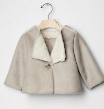 NWT Baby Gap $45 Faux Shearling Baby Kids Girls Swing Coat - 6-12 months