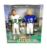 1998 NFL Starting Lineup Joe Namath And Johnny Unitas 12 Inch Poseable Figures
