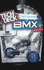 New 2017 Tech Deck BMX FINGER BIKES Series 4 HARO Flick Tricks Gray Blue Bike