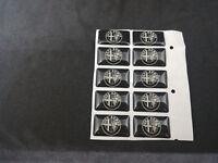 set 10 Adesivo stickers cerchi gomme volante interni ruote alfa romeo 147 mito