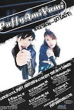 Puffy Ami Yumi Concert Handbill Mini Poster 2005 Japan Pop  Cartoon Network