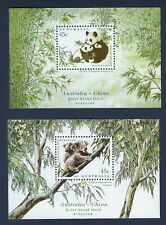 Australia & China - Panda Koala Bear 1995 miniature sheet pair Mnh Free Shipping