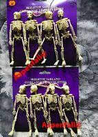2 Pks (8 Total  Realistic 3D Hanging Skeletons Fake/Prank/Halloween/ Decor