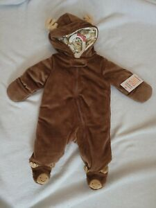 Carter's Just One You, Newborn,  Brown, Moose Snow Suit, New With Tag