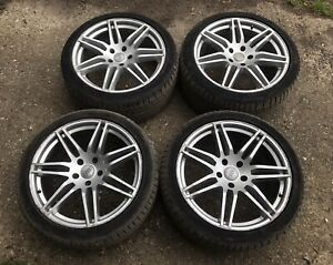AUDI Q7 LE MANS ALLOY WHEELS WITH TYRES 295 35 21 TREAD 6-7 MM