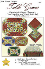 Table Graces Pattern To Make DIY Tablecloth, Placemats & Napkins by Jean Dunn