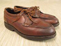Allen Edmonds Brown Leather Oxfords Men's Size US 7.5 D Vibram Sole Lace Up Shoe