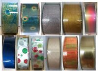 "NEW-Wire-Edged Ribbon 50 yd/ 45.7 m, 1.5"" or 2.5"" Wide, 100% Polyester, No Seams"