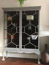 Vintage Antique Cabinet - early 20th Century Painted In Annie Sloan French Linen