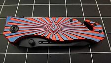 N 00006000 ew Tactical Masonic Mason Folding Pocket Knife Free Mason Square & Compass