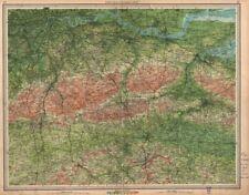 SOUTH LONDON & NORTH DOWNS. Chatham Tonbridge Maidstone. Kent Surrey 1939 map